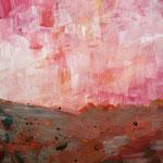 Landschaft 1 (Acryl/Papier, 32 x 24 cm)