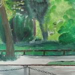 fantasy in green (Wiltbergstraße, Berlin-Buch) (Öl/Leinwand, 50 x 70 cm)