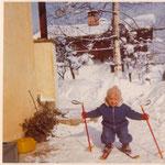 Thomas Mach mit 1 1/2 Jahren in Kitzbühel, Winter 1970.