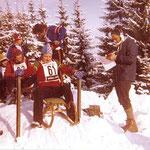 Seisl Peter sen. bei einem Rodelrennen Mitte der 60-iger Jahre