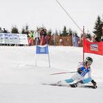 Katrin beim Paralell- Slalom