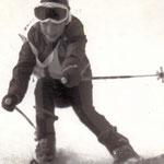 Thomas Mach mit 8 Jahren in Kitzbühel beim Schüler Skirennen, Winter 1977.