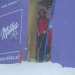 WSV Freund Klaus Pirnbacher mit seinem Sohn Florian dem Slalom Ass am Start