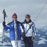 Bundespräsident Dr. Heinz Fischer und Franz Reiter am Gipfellift der Buchensteinwand