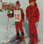 Thomas Mach mit Wolfgang Heim in Kitzbühel, Winter 1977.