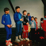 Andreas Adelsberger 1987 bei der Preisverteilung Gesamtwertung Bezirkscup. 5. Platz!!!