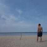 Perfekter Strand auf der Kurischen Nehrung. Kaliningrad, Russland