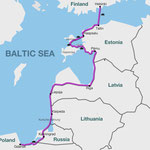 Fahrradtour entlang der Ostseeküste und durch die baltischen Länder. Europaradweg R1 und Eurovelo 10