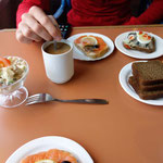 Baltic breakfast on the ferry from the island Hiiumaa back to the mainland. Estonia