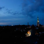 Evening walk in Tallinn, Estonia