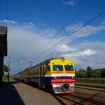Train from Tukums to Riga, Latvia