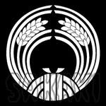 柳森神社 神紋 抱き稲