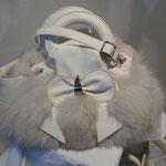 elegante Tasche aus Silberfuchs, kein Leder, Artikelnummer T111