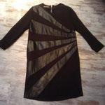 Jerseykleid mit Leder, Größe 38 - 40, Artikelnummer 316