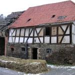 Alte Scheune vom Kronauer Hof (2005) - heute Standort des neuen Wohnhauses mit Ferienwohnung