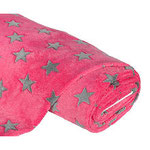 Fleece Sternchen pink/grau