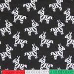 Zebra weiss auf schwarz
