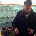 Herr Peis, engagierter Leiter des Museums bei einer kurzen Führung