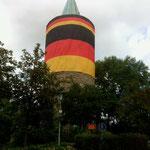 WM-Turm in der Stadt