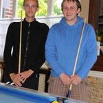 Les deux finalistes du tournoi : Cédric et Maxime
