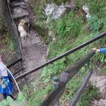 Steile Wege galt es zu erklimmen