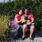 Daisy mit Ihren neuen Besitzern Anja und Christopher