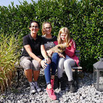 Ylvi mit Ihren neuen Besitzern Britta, Emma und Anni am 24.9.2016