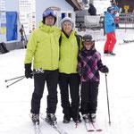 Familiefoto auf der Skipiste am 5.1.2016