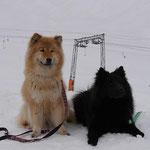 Amy und Dana im Schnee