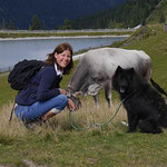 Dana´s Kontakt mit einer Kuh