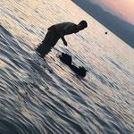 Dana im Wasser