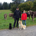 Der erste Kontakt mit Kühen ließ sie völlig kalt am 3.10.2016