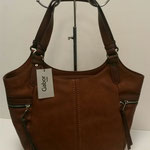 große Handtasche, Kunstleder, Farbe: cognac, 69,99€, Schuhmoden