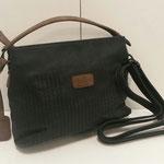kleine Handtasche mit Umhängegurt, Kunstleder, Farbe: schwarz/ braun, 44,95€, Meißner Straße, Schuhmoden und Königsbrück