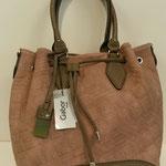 Beuteltasche, Kunstleder, Farbe: altrose/taupe, 89,99€, Schuhmoden