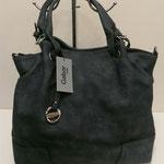 große Handtasche mit langem Umhängegurt, Kunstleder, Farbe: jeansblau, 79,99€, Schuhmoden