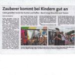 Bericht in der Lokalzeitung