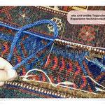 antike Teppich Reparatur