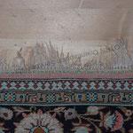 Fransen Reparatur bei Seiden Teppich