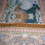 Kanten Neu einfassen bei Seiden Teppich ( Vorher )