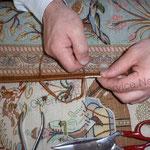 Kanten Neu einfassen bei Seiden Teppich
