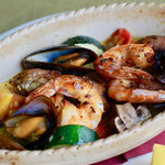 魚介と夏野菜のアーリオオーリオ