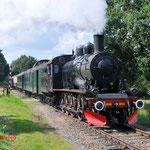 23 Augustus 2014: Simpelveld / 1040 met een trein onderweg naar Kerkrade.