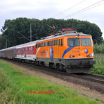4 Juli 2014: Breyel / 1142 579 Centraalbahn met autoslaaptrein naar Koper.
