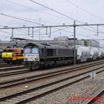 11 April 2014: Sittard / RTB V267, RRF 4402, 653-05 RRF Met dolime trein vanuit Veendam naar Hermalle(B)