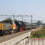 27 September 2009: Eindhoven / 6500 DBS + 65018 SSN  met een trein van de ssn richting Boxtel