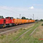 16 Juli 2014: Wiesenta l/ 1275 507 AVG Met een vuiltrein richting Karlsruhe