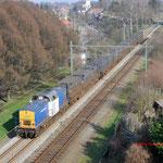 16 Maart 2012: Heerlen / 203-3 VR gehuurd door Locon is met de vuiltrein (50094) onderweg naar Maastricht