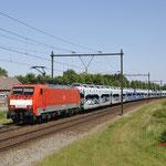 25 Mei 2017: Horst-Sevenum / 189 072 DBC Met een Ford trein richting de Sloehaven