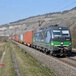 17 Maart 2016: Thungersheim / 193 212 WLC Met een containertrein richting Wurzburg